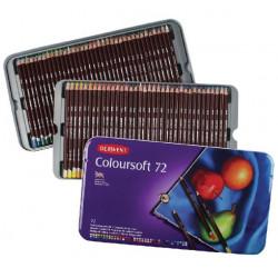 Набор цветных карандашей Coloursoft 72 цв в метал.упаковке
