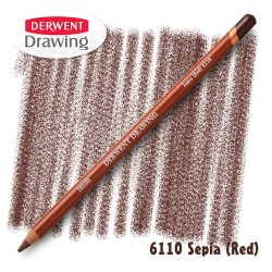 Карандаш Derwent Drawing 6110 Сепия красная (Sepia-(Red))