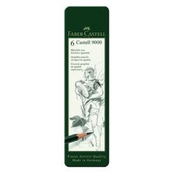 Набор графических карандашей Faber-Castell, 6 шт