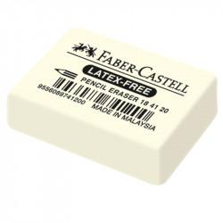 """Ластик Faber-Castell """"Latex-Free"""", синтетический каучук, 40х27х10 мм"""