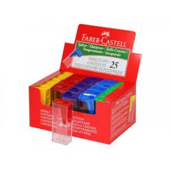 Точилка Faber-Castell пластиковая с контейнером