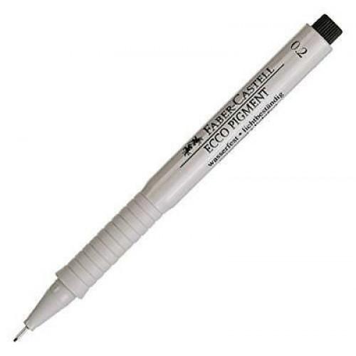 "Ручка капиллярная Faber-Castell ""Ecco Pigment"" черная, 02 мм"