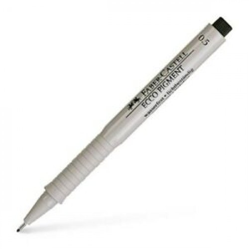 "Ручка капиллярная Faber-Castell ""Ecco Pigment"" черная, 0,5мм"
