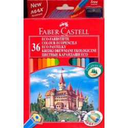 """Карандаши цветные Faber-Castell """"Замок"""", 36цв., заточен., картон, с точилкой"""