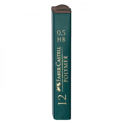 """Грифели для механических карандашей Faber-Castell """"Polymer"""", 0,5мм, HB"""