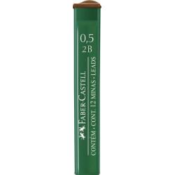 """Грифели для механических карандашей Faber-Castell """"Polymer"""", 0,5мм, 2B"""