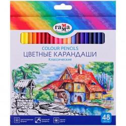 """Карандаши цветные Гамма """"Классические"""", 48цв."""