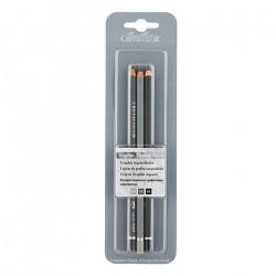 Набор из 3 водорастворимых чернографитовых карандашей в блистере, тв. HB,4B,8B