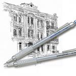 Карандаш механический Pentel GraphGear 500 серебряный корпус 0,5мм