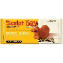 Глина для моделирования 1000 гр терракотовая Sculpt Dry, MUNGYO
