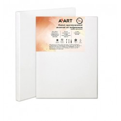 Холст грунтованный на подрамнике AZART, акриловый грунт, 100% лён, среднее зерно, 480 г/м2, 40 х 50 см