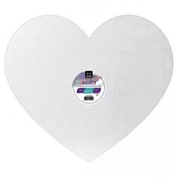Холст на картоне Малевичъ в форме сердца, 20х17,5 см