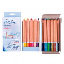 Набор акварельных карандашей Белые ночи, 24 цвета, в картонной коробке
