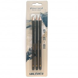 Набор чернографитных карандашей Малевичъ GrafArt, 3 шт