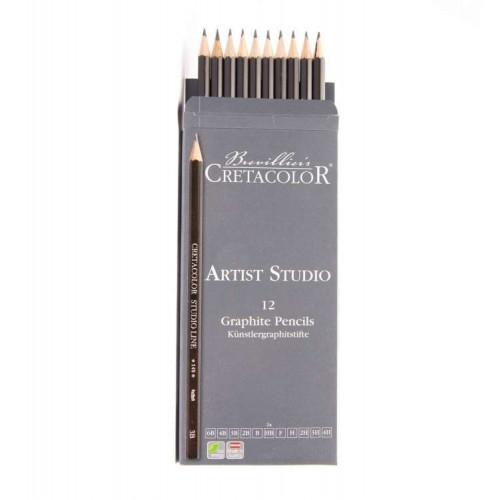 Графические карандаши Cretacolor Artist Studio Line, 12 шт