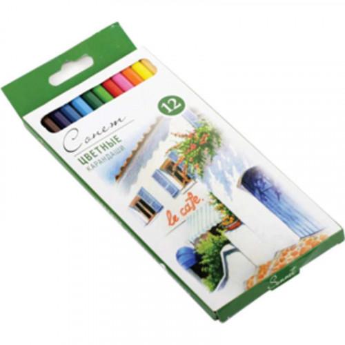 Набор профессиональных цветных карандашей Сонет, 12 цветов