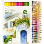 Набор профессиональных цветных карандашей Сонет, 36 цветов