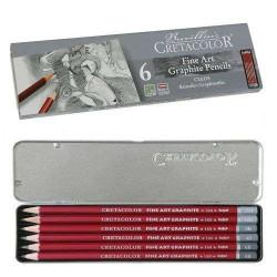 Набор графических карандашей Cleos, 6 шт