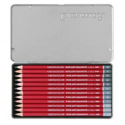 Набор графических карандашей Cleos, 12 шт