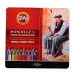 Набор акварельных карандашей Mondeluz Koh-i-noor, 24 цвета, в жестяном пенале