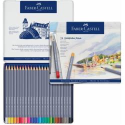 Набор акварельных карандашей Faber-Castell Goldfaber Aqua 24 штуки в жестяной коробке