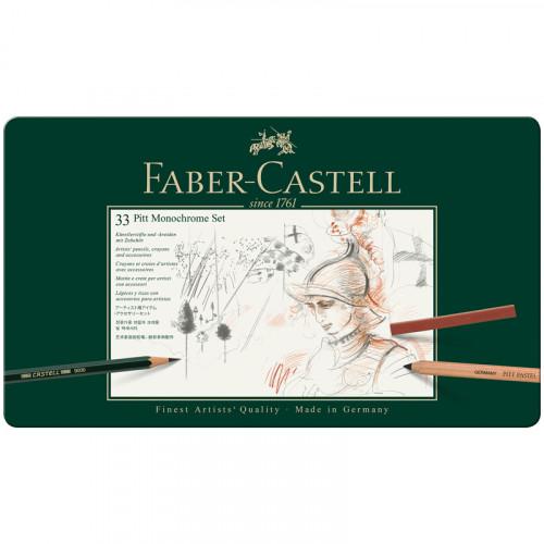 """Набор художественных изделий Faber-Castell """"Pitt Monochrome"""", 33 предмета"""