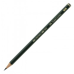 Карандаш чернографитный Faber-Castell Castell 9000 HB, заточенный