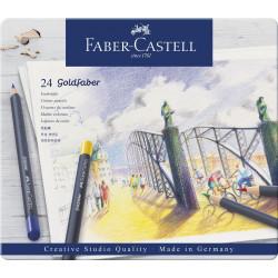 Набор цветных карандашей Faber-Castell Goldfaber (24 штуки в жестяной коробке)