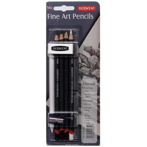 Набор угольных карандашей Charcoal 9 предметов в блистере