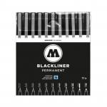Набор маркеров линеров BLACKLINER  Comlete Set, 11шт.
