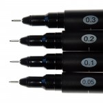 Molotow Набор маркеров линеров BLACKLINER  Set 1, 4 шт.