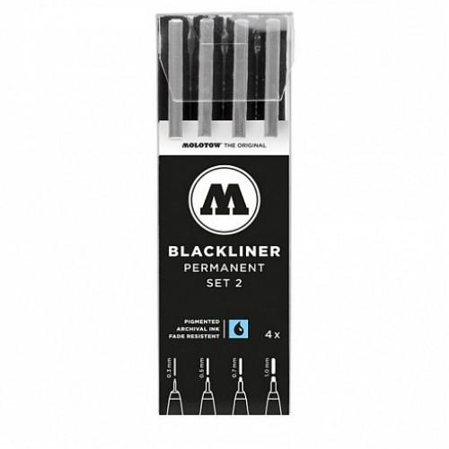 Набор маркеров линеров BLACKLINER  Set 2, 4шт.