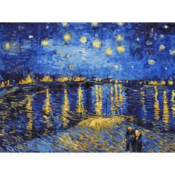 Картина по номерам «Звездная ночь над Роной», 30x40 см