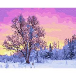 Картина по номерам «Пурпурное утро», 40*50 см.