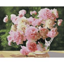 Картина по номерам «Садовые пионы», 40*50 см.