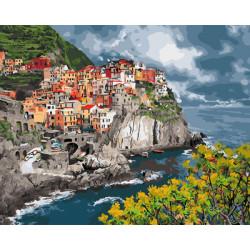 Картина по номерам «Итальянское побережье», 40*50 см.