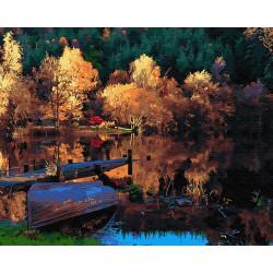 Картина по номерам «Рыбацкий мостик», 40*50 см.