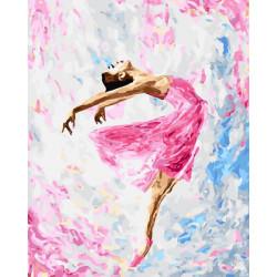 Картина по номерам «Танцующая балерина», 40x50 см