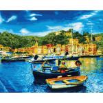 Картина по номерам «Средиземноморский причал», 40x50 см