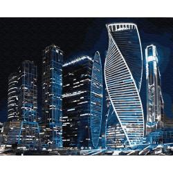 Картина по номерам «Москва Сити», 40*50 см.