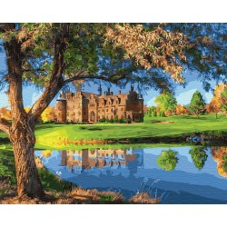 Картина по номерам «Замок у озера», 40*50 см.