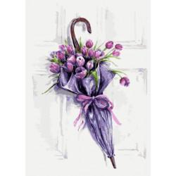 Картина по номерам «Цветочный зонт», 30x40 см Premium