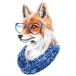 Картина по номерам «Лиса в очках», 30x40 см Premium
