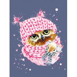 Картина по номерам «Зимняя сова», 30x40 см Premium