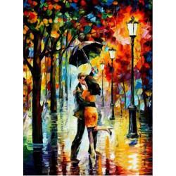 Картина по номерам «Под дождём», 40*50 см.