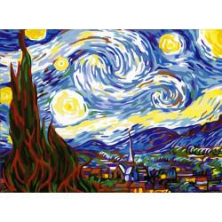 Картина по номерам «Звездная ночь», 40x50 см Premium