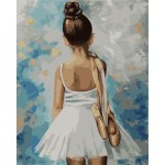 Картина по номерам «Маленькая балерина», 40x50 см Premium