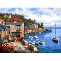 Картина по номерам «Средиземноморье», 40*50 см.