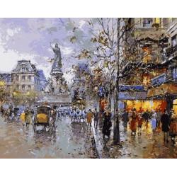 Картина по номерам «Прогулочный бульвар», 40*50 см.