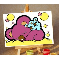 Картина по номерам «Сон», 10x15 см